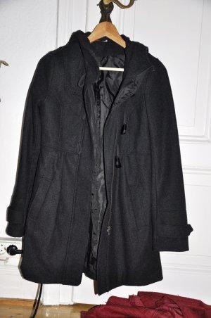 Wintermantel mit Kapuze H&M Gr. 36, schwarz