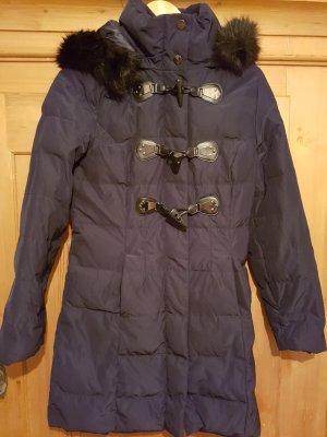 Orsay Manteau à capuche bleu foncé
