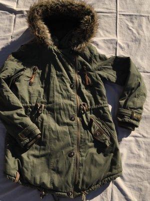 Naketano Cappotto invernale cachi-grigio-verde