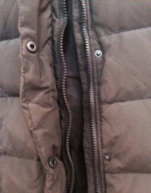 Zara Manteau à capuche kaki-gris vert matériel synthétique