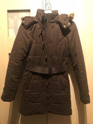 Orsay Hooded Coat dark brown-black brown