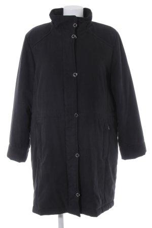Manteau d'hiver noir style décontracté