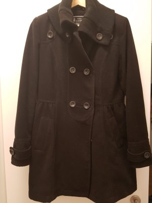 Wintermantel, schwarz, warm, Military-Stil