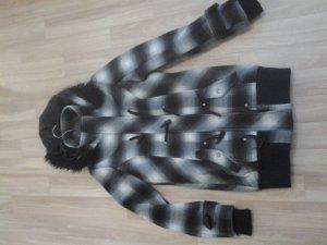 Wintermantel schwarz/weiß