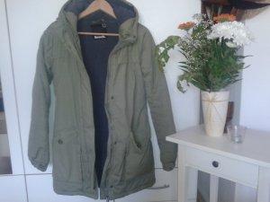 Bench Manteau à capuche vert olive laine