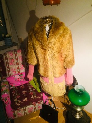 Blutsgeschwister Fake Fur Coat multicolored