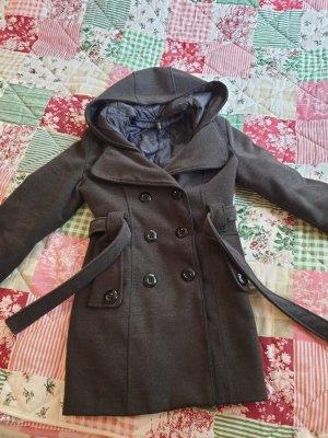 H&M M By Madonna Winter Coat dark brown