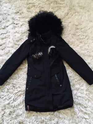 Khujo Manteau d'hiver noir