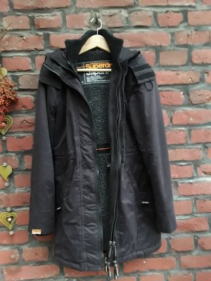 Superdry Hooded Coat black