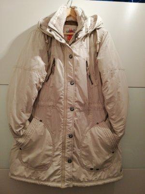 Cappotto taglie forti bianco sporco-beige chiaro