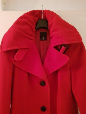 BC Collection Abrigo de lana rojo lana de esquila