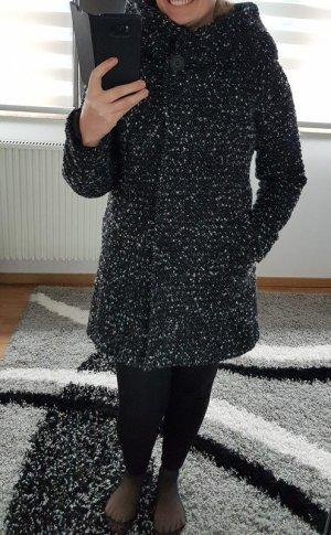 Wintermantel Wollmantel Mantel Vila Gr. S (36/38), Neu schwarz weiß NEU Coat XXL Kapuze