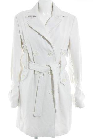 Manteau d'hiver blanc cassé style classique