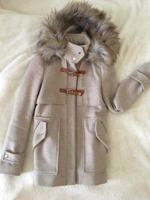 Zara Manteau à capuche beige