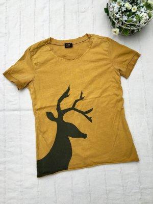 Wintermotiv: LEE Shirt mit Hirsch, Safrangelb, (Medium)