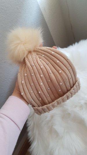 no name Chapeau en tricot crème