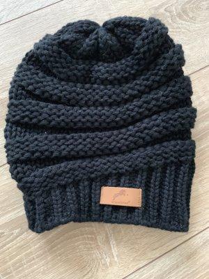 Gorra negro-marrón claro