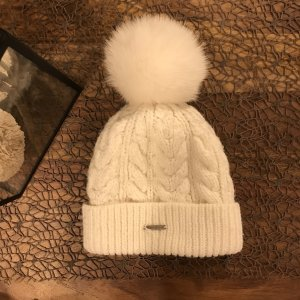Barts Knitted Hat natural white