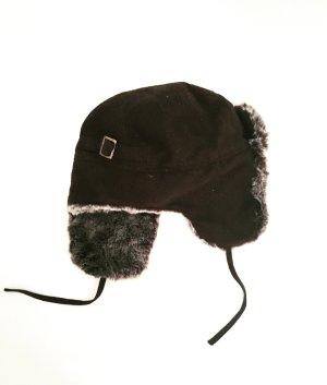 Vintage Chapeau en fourrure multicolore