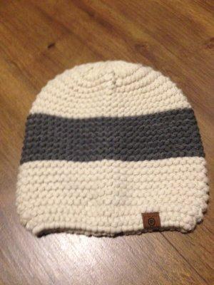 Tom Tailor Denim Sombrero de punto beige claro-gris Acrílico