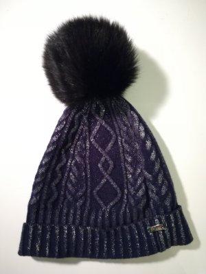 High Chapeau en tricot multicolore