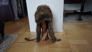 H&M L.O.G.G. Fur Hat multicolored cotton
