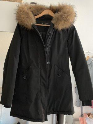 Attentif Cappotto invernale nero-marrone chiaro