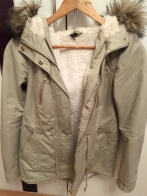 H&M Parka gold-colored polyester