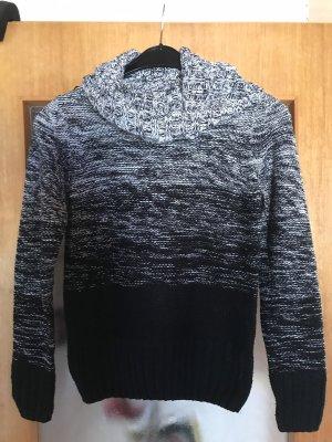 Coarse Knitted Sweater black-light grey