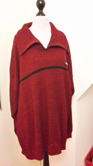 Winterpullover - Addidas - rot und schwarz Gr. 48