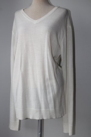 V-Neck Sweater natural white