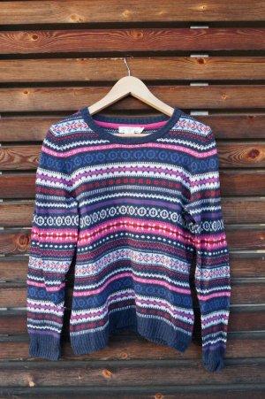 H&M L.O.G.G. Norwegian Sweater multicolored cotton