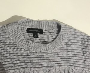 Banana Republic Knitted Sweater pale blue-azure