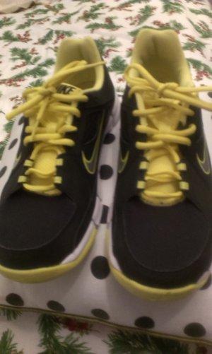 Nike Zapatilla brogue negro-amarillo neón