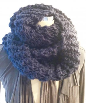 Snood dark blue-blue