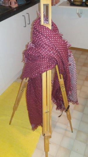 Esprit Sciarpa di lana carminio-bianco Acrilico