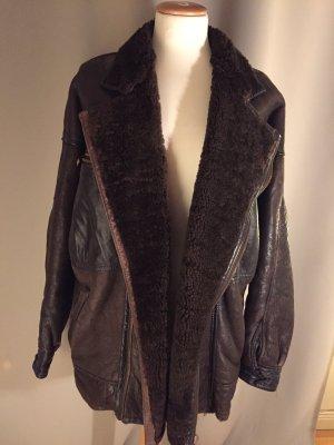 Winterschlussverkauf: naturgewachsene Schafsfell-Jacke, Vintage
