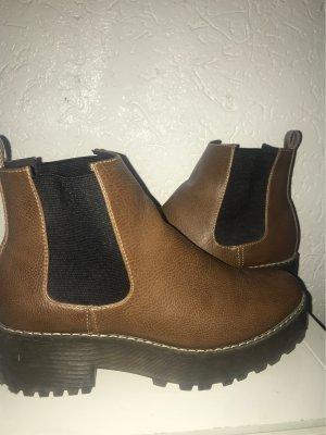 H&M Low boot bronze cuir