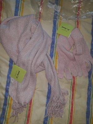 M. Asam Guantes con dedos rosa-rosa claro