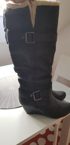 no name Halfhoge laarzen zwart