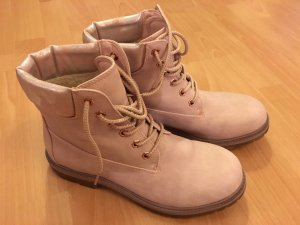 Deichmann Lace-up Boots light pink