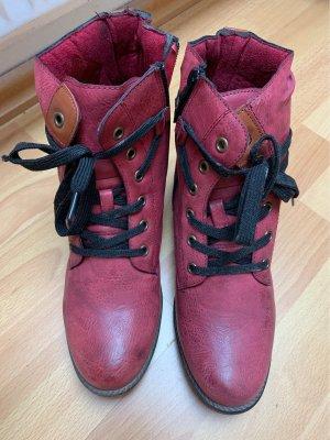 Winter Boots dark red