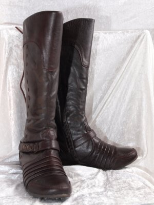 Winter Boots dark brown imitation leather