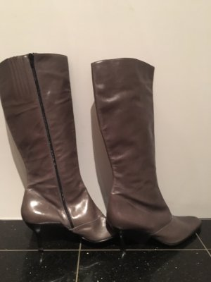 Wide Calf Boots taupe-grey brown
