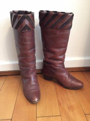 Laarzen met hak veelkleurig Leer