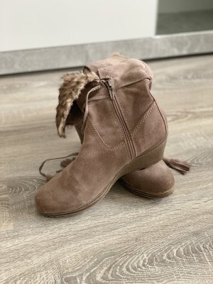 Tamaris Fur Boots grey brown