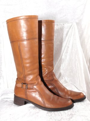Winter Boots cognac-coloured