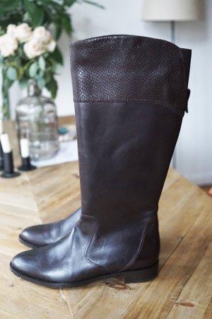 Winterstiefel Boots gefüttert Leder Sioux dunkelbraun weich bequem warm 38,5 NEU