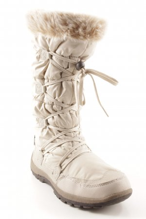 Winterstiefel creme Street-Fashion-Look