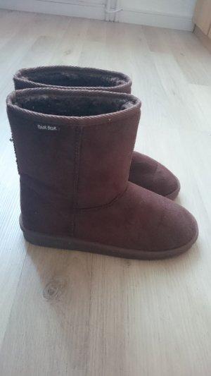 Botines de invierno marrón oscuro